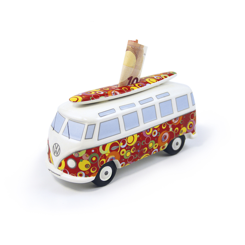VW T1 BUS SPARDOSE MIT SURFBRETT- BUBBLE