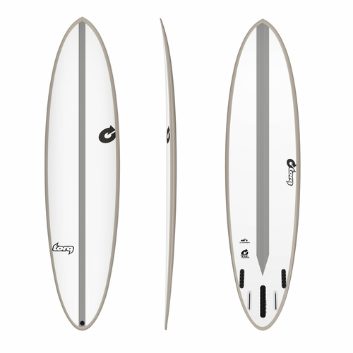 Surfboard TORQ Epoxy TEC Chopper 7.2 Rail Stone
